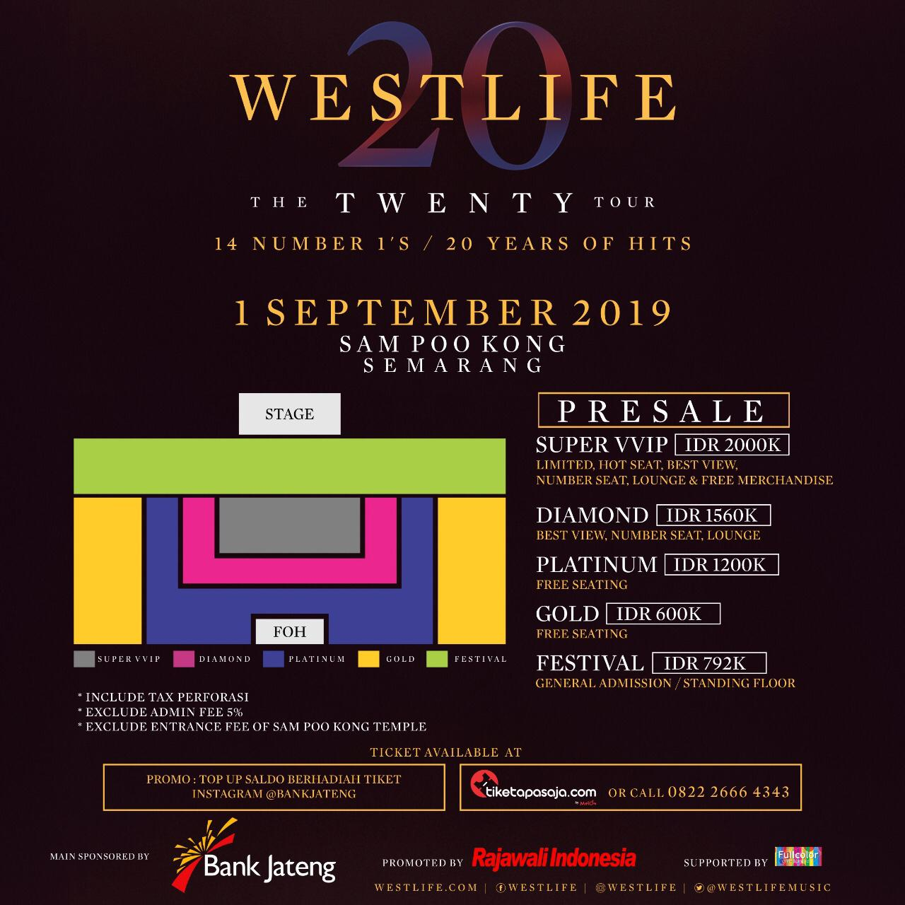 WESTLIFE THE TWENTY TOUR LIVE IN SAM POO KONG TEMPLE SEMARANG