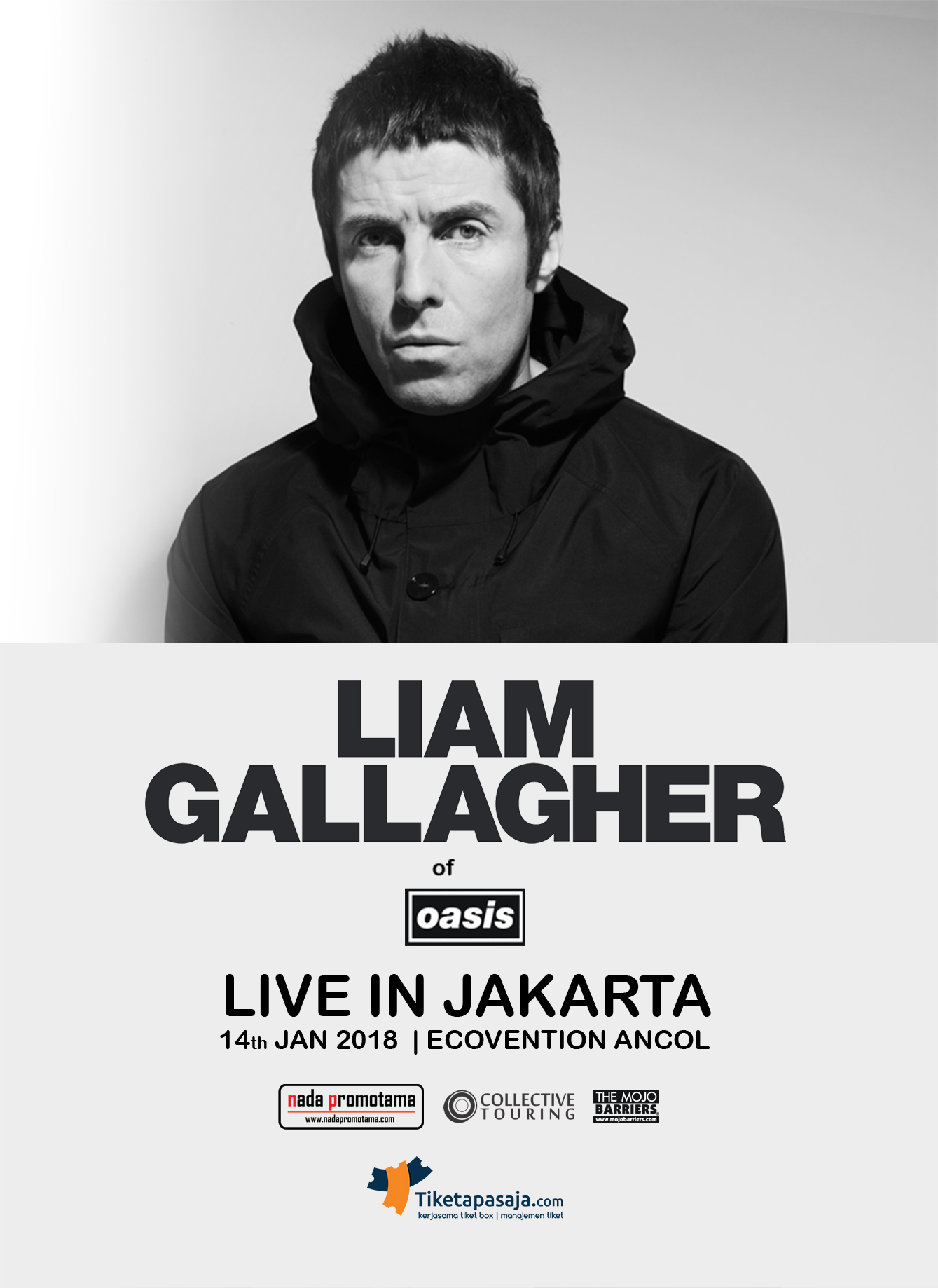 LIAM GALLAGHER OF OASIS LIVE IN JAKARTA